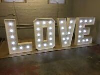 """Wedding Decor Hire & for Sale """" 4 Foot Signs"""" LOVE - MR & MRS- Names ie. KING- KHAN"""