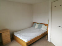 Bright good size double room in spacious flat and quiet area