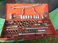 45 Piece socket set made up of many sockets collected over many years as shown in photo. £15
