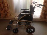 DAYS Swift 46cm Ultra Lightweight Wheelchair Cost £329 New. Excellent Condition. Model SWIFT46TR