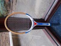 Jaguer tennis racket.