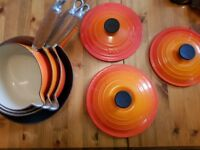 Classic Set of Le Creuset in sunburst Orange