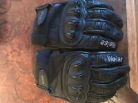 Weise leather motorbike gloves as new