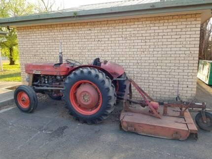 Massey 135 tractor & slasher