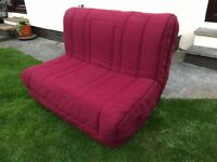 Sofa Bed - sturdy metal frame and wood slats. Comfy bed in good condition