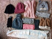 Winter bundle of hats, scarves and gloves. Excellent condition. £30. Pick up only