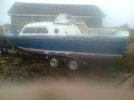 Norman 22ft leisure/pleasure fishing boat.(Project).