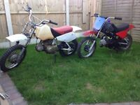 Job lot two pw pit bikes 70cc and a 80 both runners