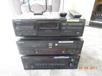 Pioneer Stereo System with surround sound speakers