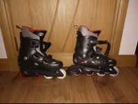 California Pro Misty II red, grey and black inline roller skates adult size 9-13 collect Stonehaven