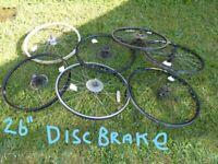WHEELS GALORE BMX, Mountain, Hybrid, Racing, Disc + Vee Brake From £3 A Wheel