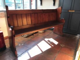 Wooden pew/ bench 5'3