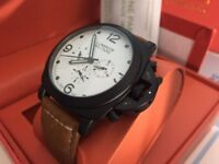 New Panerai Luminor Militare Ceramic Case Automatic Watch, See Through back