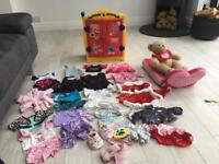 Build a bear clothes , including wardrobe, bear and reclining lounger for the bear