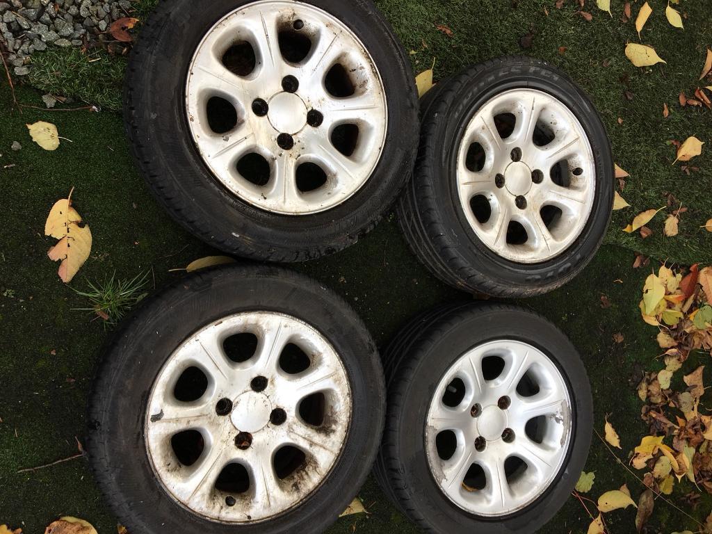 Set of 4 Citroen Saxo Alloy Wheels