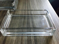 4 quality small glass tray like containers for accessories,quick sale at only £20,costs £13.95 each