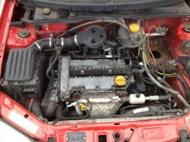 Vauxhall corsa b 1.2 16v engine complete with gearbox can be heard running