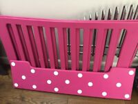Toddler bed handmade Minnie Mouse bed