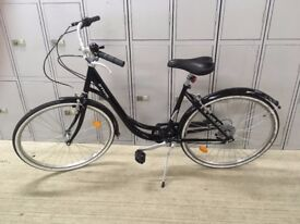 NEW UNISEX Classic Black City BICYCLE + D Lock + Lights