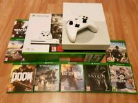 Xbox One S 1TB * Boxed * 8 Games Bundle * Mint *
