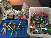 HUGE LEGO BIONICLE AND HERO FACTORY BUNDLE
