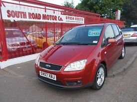 *FORD FOCUS C-MAX*MPV*MAGENTA RED*DIESEL 1.8*IMMACULATE*ONLY 1 OWNER*YEARS MOT*BARGAIN AT £2495*