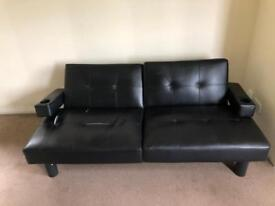 Leather gaming sofa couch