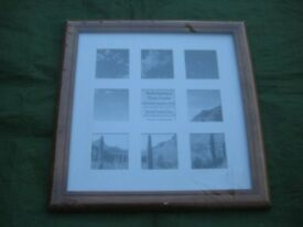 Brand New Wooden and Glazed Multi-Aperture Photo Frame Ready To Hang