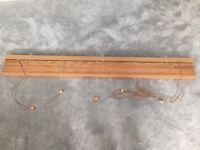 Wooden venetian slatted blind