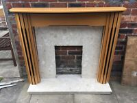 Marble Fire Surround and Base