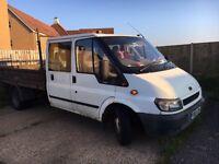 Mk 6,ford transit, crew cab, tipper