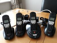 BT SYNERGY 4500 QUAD PHONES & ANSWERING MACHINE