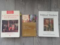 3x Core POLITICAL THINKERS AND ETHICS textbooks *Great condition*