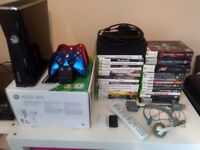 XBOX 360 250GB + Games + Controllers & Electric Guitar