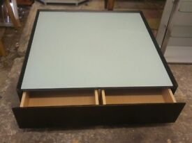 Large glass low coffee table