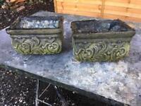 Pair small pot Garden Ornament