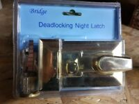 DEADLOCKING NIGHTLATCH NEW JOB LOT X 5