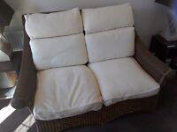 Wicker Conservatory/Garden Sofa