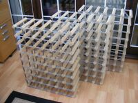3 large (48 bottle) wine racks
