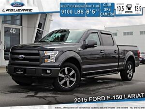2015 Ford F-150 LARIAT*4X4*CUIR*GPS*CAMERA*BLEUTOOTH**