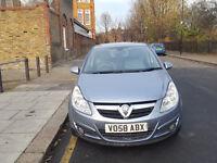 2008 Vauxhall Corsa 1.4 Silver 5dr hatchback AUTO Petrol MOT May2018 full service history
