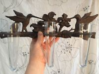 Flower holder Ornate Wall mountable - great gardeners Christmas present