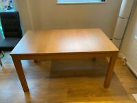 IKEA extendable oak veneer dining table