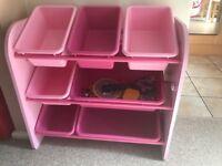 Ikea pink shelves basket
