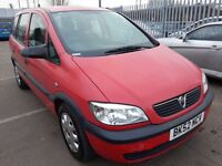 VAUXHALL ZAFIRA 2.0 DTI 52 REG DIESEL 7 SEATER LOW MILES 110K SERVICE HISTORY 1 OWNER CAR