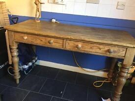 Solid oak desk/ side board