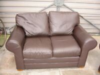 "Two seater ""Faux"" Leather Sofa"