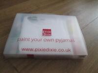 PIXIE DIXIE BRAND NEW PAINT YOUR OWN PYJAMAS - AGE 10-12
