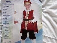 Tutor King Costume age 7-9 years