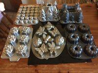 Nordic Bakeware Bundt TIns various x 6